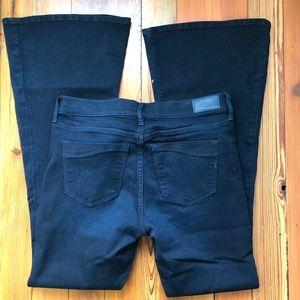 Express Dark Wash Flare Jeans, Size 8